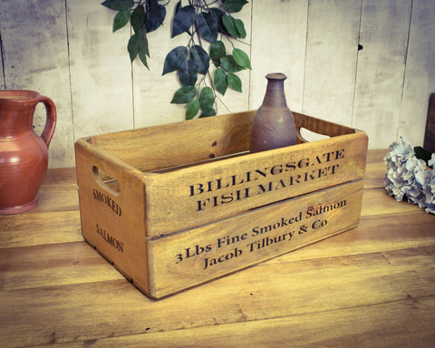 Billingsgate Fish Market Solid Wood Vintage Crate