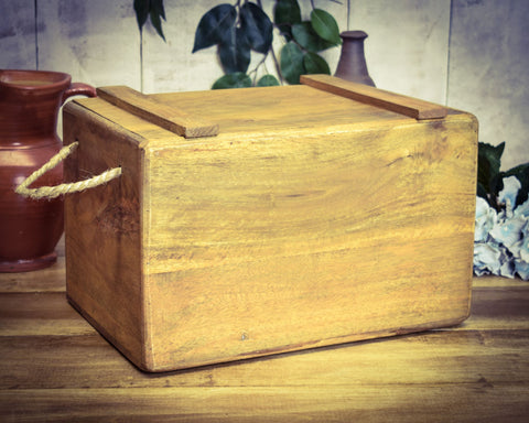 Blank Plain Solid Wood Vintage Wooden Crate