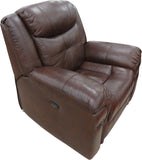 Brown Full Leather Electric Recliner Chair