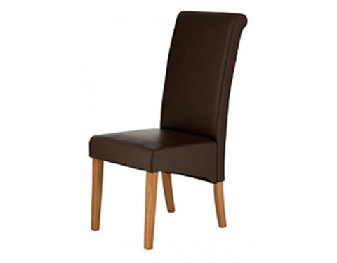 Carnaby Brown Bonded Leather Dining Chair