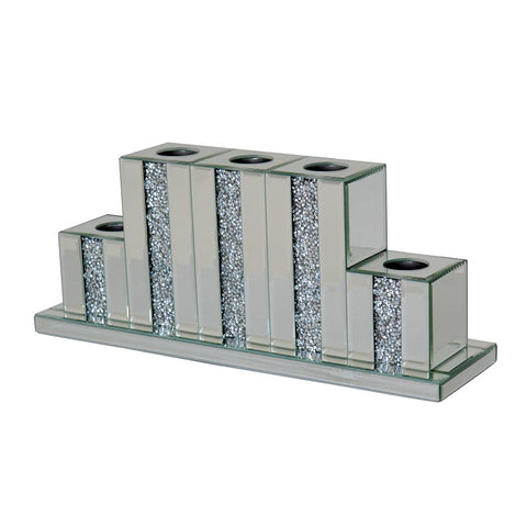 Mirrored Diamante 5 Tier Tea Light Candle Holder