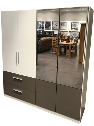 Alvor Contrast Mirrored Wardrobe