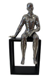 Silver Electroplated Sit Beside Me Man Ornament