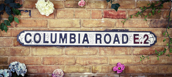 Columbia Road E2 Vintage Retro Street Sign