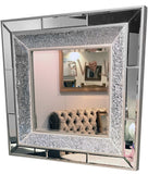 Crackle Mosaic Square Wall Mirror
