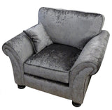 Crushed Velvet Fabric Chair Available in Steel, Grey, Heather Purple and Silver