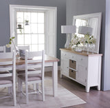 1.2m Oak & Hardwood White Butterfly Extending Table