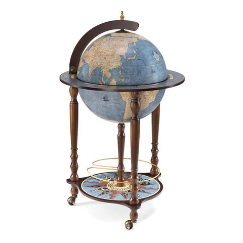 Ocean Blue Drinks Globe Trolley