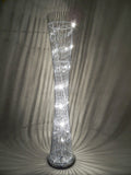 Diablo Silver Twisted Tower Floor Lamp