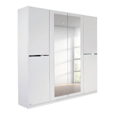 Dorset Hinged Mirrored Wardrobe - White