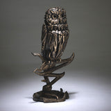 Edge Sculpture Golden Owl Hand Painted Sculptured Figurine Ornament