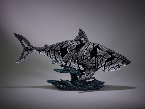 Edge Sculpture Hand Painted Sculptured Shark Ornament Figurine