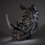 Rhino Rhinoceros Edge Sculpture Hand Painted Ornament Figurine