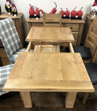 Weathered Oak Small Extending Butterfly Dining Table