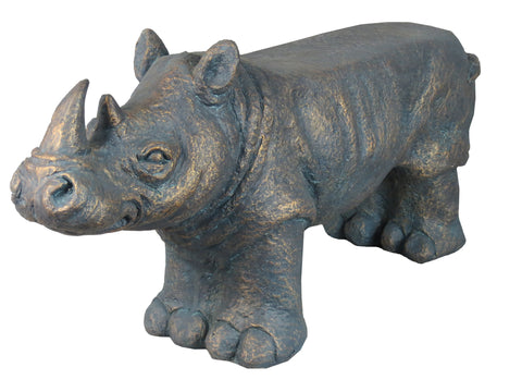 Aged Effect Rhinoceros Garden Bench