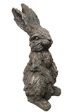 Wood Effect Standing Rabbit Garden Ornament