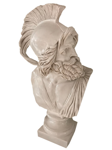 White Roman Bust of Philopoemen Ornament