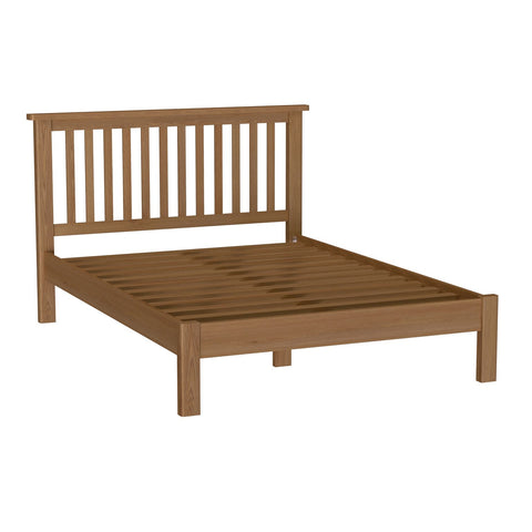 Oak & Hardwood Rustic Double Bed