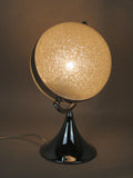 Silver Chrome Sparkle Globe Table Lamp