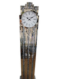 New York Diamante Art Deco Mirrored Grandfather Clock