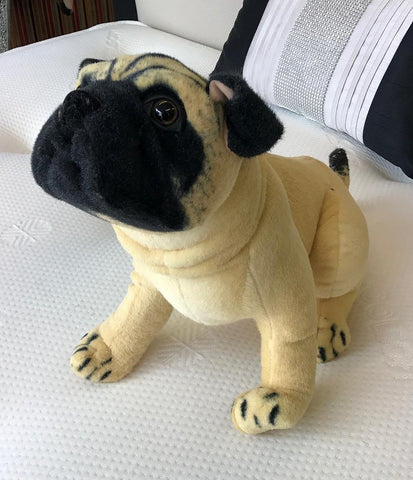 Sitting Pug Dog Soft Toy