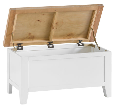 Oak & Hardwood White Blanket Box