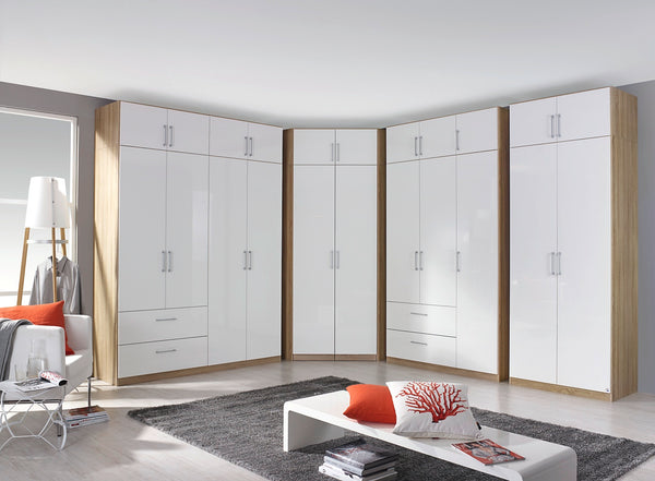 Cherry Hinged Wardrobe in Sonoma Oak
