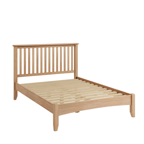 Light Oak Effect King Size Bed
