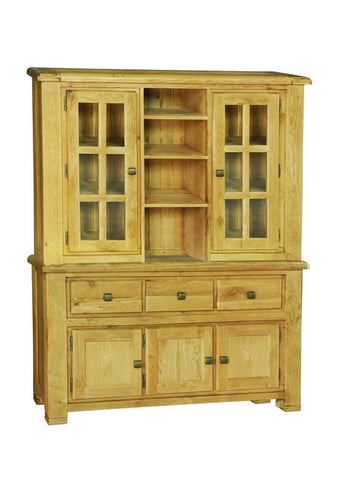 Weathered Oak Medium Buffet & Hutch