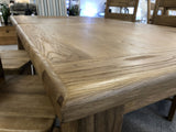 Weathered Oak Large Extending Butterfly Table