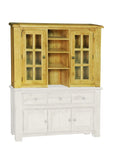 Weathered Oak Medium Hutch Cabinet