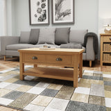Oak & Hardwood Rustic Large Coffee Table
