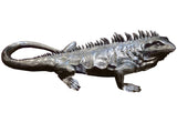 Large Silver Electroplated Iguana Ornament