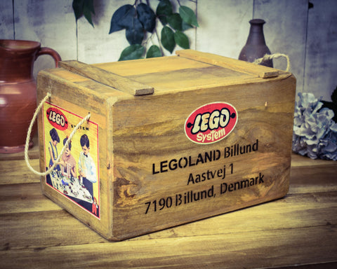 Lego System Vintage Solid Wood Chest