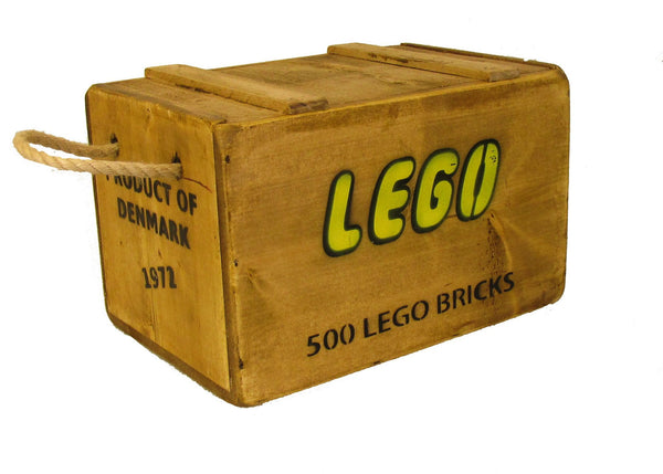 Lego Vintage Solid Wood 500 Bricks Storage chest
