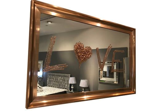 Rose Gold Liquid Art Love Mirror