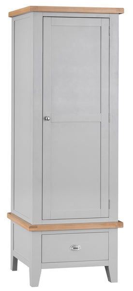 Oak & Hardwood Grey Single Wardrobe