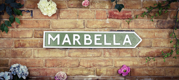 Marbella Vintage Retro Spanish Road Sign