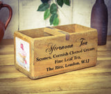 Medium Solid Wood Vintage Afternoon Tea Carry Box