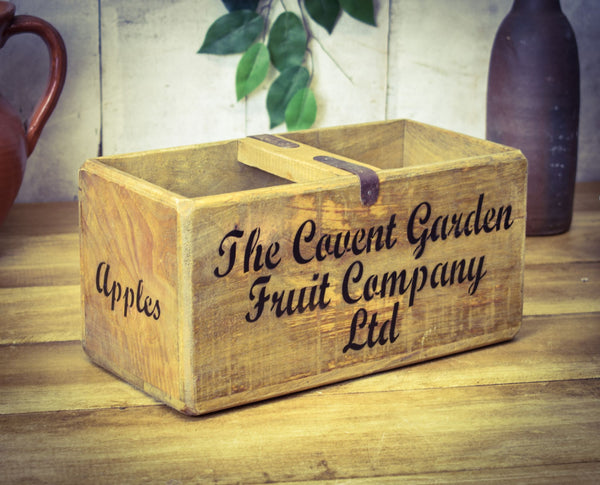 Medium Covent Garden Fruit Company Solid Wood Vintage Carry Box