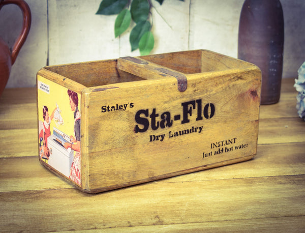 Staleys Sta-Flo Dry Laundry Vintage Solid Wood Medium Box