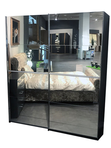 Tamara Diamante Strip Mirrored Sliding Door Wardrobe