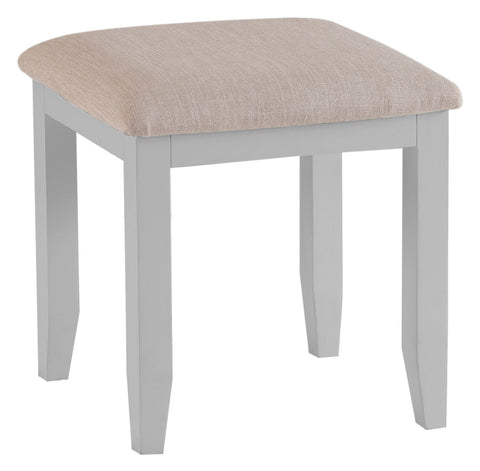 Oak & Hardwood Grey Dressing Table Stool