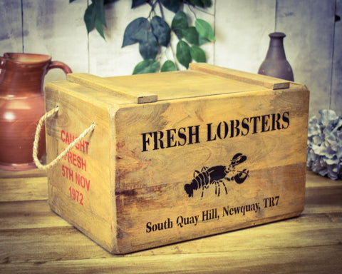 Newquay Fresh Lobster Solid Wood Vintage Chest