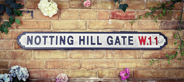 Notting Hill Gate W11 Vintage Retro Road Sign