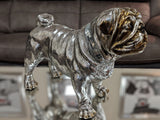 Silver Electroplated Standing Pug Ornament