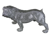 Large Silver Electroplated Faux Diamante Stud Standing Bulldog Ornament