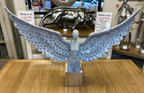 Large Silver Spread Angel Wings Diamante & Mosaic Ornament