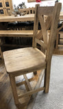 Weathered Oak Round Top Dining Table & 6 Dining Chairs