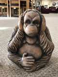 Small See No Evil, Hear No Evil, Speak No Evil Orangutan Garden Ornament